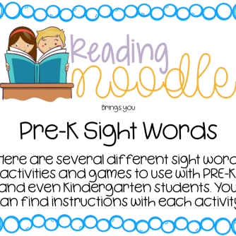 Pre-K Sight Word Bundle