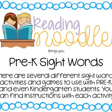 Pre-K Sight Word Bundle
