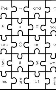 sight word puzzles pdf