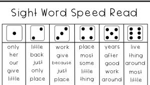 sight word speed read early elem pdf